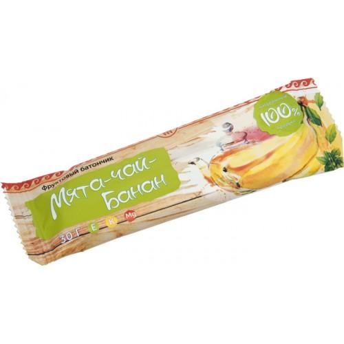 Батончик фруктовый Банан-чай-мята  г. Пушкино