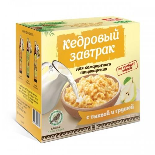 Завтрак кедровый для комфортного пищеварения с тыквой и грушей  г. Пушкино